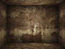 Grungy interior brick room Stock Photography