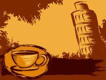Grungy Italiaanse koffieachtergrond royalty-vrije illustratie