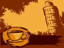 Grungy Italian coffee background royalty free illustration