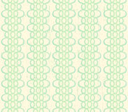 Grungy ivoor naadloze achtergrond met groen kant Stock Fotografie