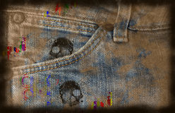 Grungy jeans background Royalty Free Stock Photos