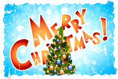 Grungy Kaart van de Groet van Kerstmis Royalty-vrije Stock Foto's
