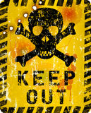 Grungy keep out warning sign Stock Photo