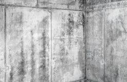 Grungy konkret inre fragment med hörnet Fotografering för Bildbyråer