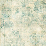 Grungy Lace Doiley Background Design. A grungy lace doiley background design texture montaged with old French receipt Stock Images