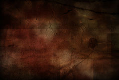Grungy Landscape Painting Stock Photography