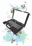 Grungy laptop Royalty Free Stock Photos