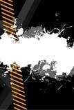 Grungy Lay-out van het Gevaar stock illustratie