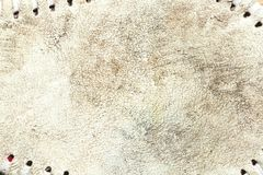 Grungy leather texture of a used baseball stock image