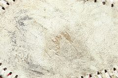 Grungy leather texture of a used baseball royalty free stock image