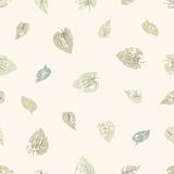 Grungy leaves seamless pattern Stock Image