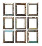 Grungy leerer Rahmen Stockfotos