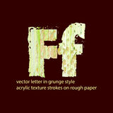 Grungy letter F Royalty Free Stock Photo