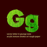 Grungy letter G Stock Photos