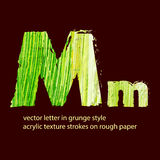 Grungy letter M Royalty Free Stock Image