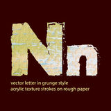 Grungy letter N Royalty Free Stock Images