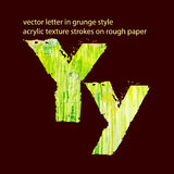 Grungy letter Y Royalty Free Stock Image