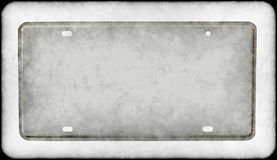Grungy license plate Stock Image