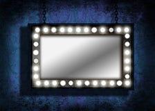 grungy lights marquee mirror Στοκ εικόνες με δικαίωμα ελεύθερης χρήσης