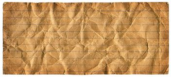 Grungy Lined Paper. Vintage Lined Paper - XL size - isolated with clipping path Stock Photos