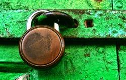 Grungy Locked Doors Stock Image