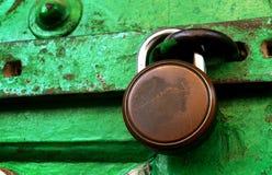 Grungy Locked Doors Stock Photography