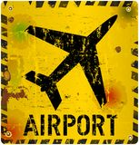 Grungy lotnisko znak Fotografia Stock