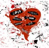 Grungy love design Stock Photography