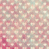 Grungy love heart background. Abstract grungy love heart background in distressed pink Stock Photo