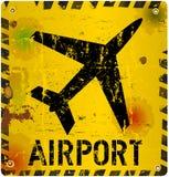 Grungy luchthaventeken Stock Fotografie