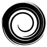 Grungy mażący okrąg Abstrakcjonistyczna pluśnięcie kształta sylwetka royalty ilustracja