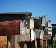 Grungy mailboxes Stock Photos