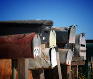 Grungy mailboxes Royalty Free Stock Image