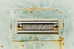 Grungy metal tekstury skrzynka pocztowa Obrazy Royalty Free