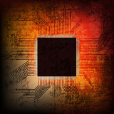 Grungy microchip Royalty Free Stock Image