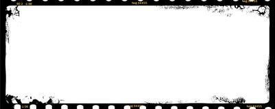 Grungy middelgrote negatieve formaatfilm stock illustratie