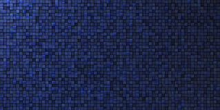 Grungy mosaic wall in deep blue Stock Photos
