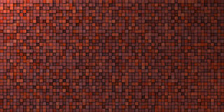 Grungy mosaic wall in deep red Royalty Free Stock Photo