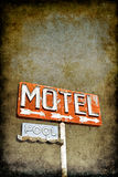Grungy Motel Sign Royalty Free Stock Photography