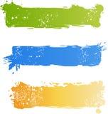 Grungy multicolored bannerreeks royalty-vrije illustratie