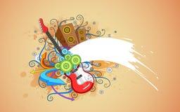 Grungy Music Background Stock Photo