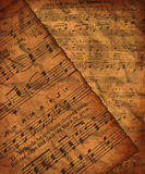 Grungy music paper Stock Photo