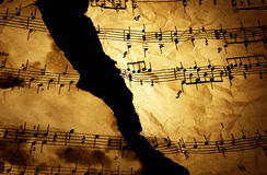Grungy musical background Royalty Free Stock Images