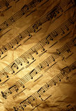 Grungy musical background Royalty Free Stock Image