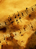 Grungy musical background Royalty Free Stock Photos