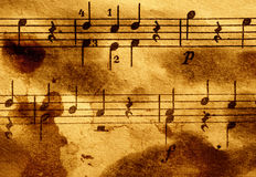 Grungy musical background Stock Image