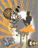 grungy musik vektor illustrationer