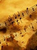 grungy musikal för bakgrund Royaltyfria Foton