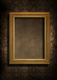 Grungy muur en frame Stock Afbeelding