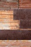 Grungy muur oude houten textuur als achtergrond Stock Foto's
